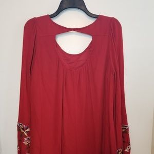 NWT Altar'd State Cascara Red Embroidery Dress